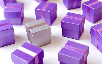 color, gifts, purple, holiday, lilac, box