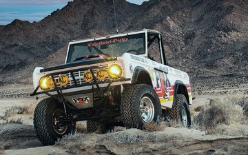 the sky, mountains, desert, suv, rally cross, ford
