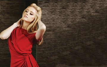 платье, блондинка, актриса, красное, эмбер херд, амбер херд, эмбер лора хёрд
