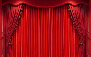 curtains, color, red, fabric, theatre, scene, curtain, velvet, drapes, drape