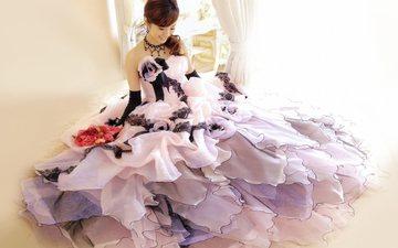 девушка, платье, улыбка, актриса, певица, прическа, японка, азиатка, aya ueto, ая уэто