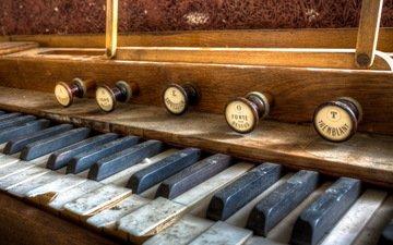 фон, музыка, музыкальный инструмент, крупным планом, орган