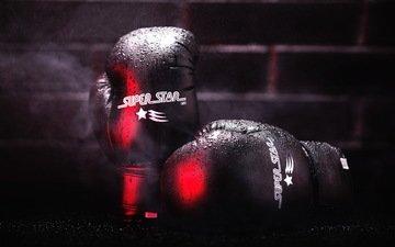 свет, фон, спорт, бокс, порт, перчатки