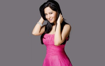girl, dress, pose, smile, brunette, model, face, actress, long hair, bollywood, preetika rao, pritika rao
