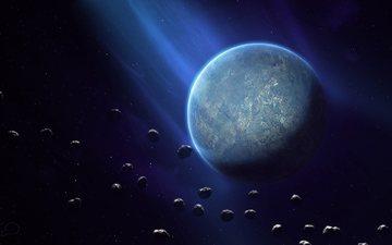 небо, космос, планета, шар