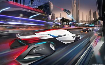 the city, future, police, concept, bmw, epatrol