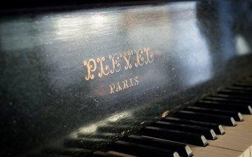 макро, музыка, пианино, клавиши, рояль, музыкальный инструмент
