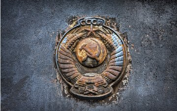 металл, герб, лого, ржавчина, государство