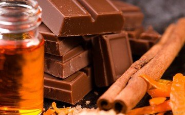 корица, масло, апельсин, шоколад, цедра, плитки, кожура, пузырёк, цедра апельсина