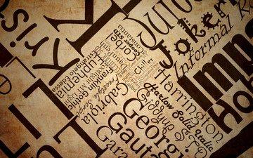 арт, текстура, бумага, слова, буквы, текст, газета, поверхность, шрифт