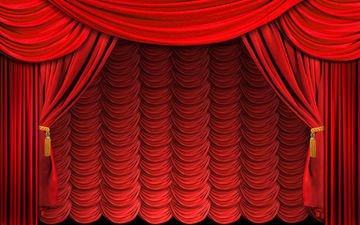 шторы, цвет, красный, ткань, занавес, портьеры, драпировка