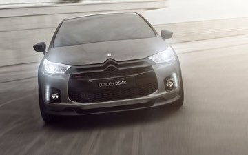 auto, logo, lights, concept, the hood, racing, citroen, ds4, ds 4r