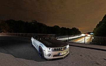 lights, bridge, auto, track, sports car, chevrolet