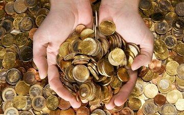 руки, деньги, монеты