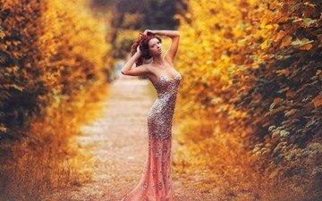 платье, осень, фигура, туфли, карен абрамян, сексапильная