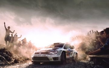 machine, white, auto, sport, rally, red bull, wrc, volkswagen, polo