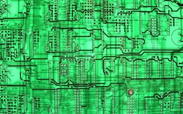 green, background, fee, chip, the trick, circuit board, microchip, integrated circuits
