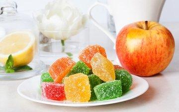 яблоко, сладкое, желе, мармелад, эппл, сладенько