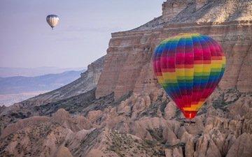 горы, спорт, воздушные шары