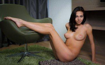 брюнетка, грудь, обнаженная, голые, обнаженные девушки