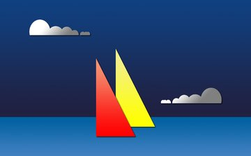 vector, ships, graphics, sailboats