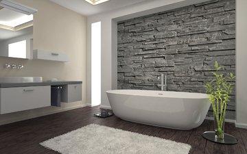 стиль, интерьер, дизайн, ванная