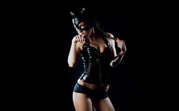 girl, mask, model, catwoman