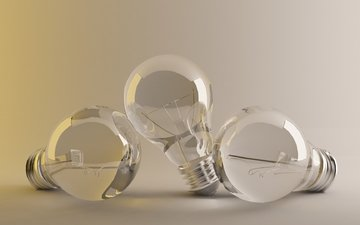 background, lamp, glass, light bulb, studio, glow