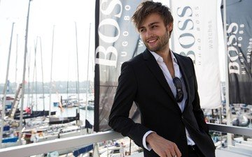 actor, jacket, douglas booth, hugo boss