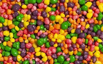 текстура, макро, разноцветные, конфеты, сладкое, драже