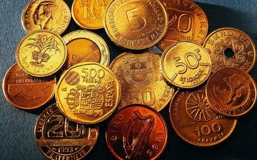 много, деньги, золото, монеты