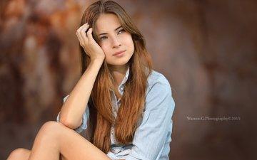 девушка, портрет, шатенка