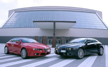 auto, the building, playground, alfa-romeo brera, 2005