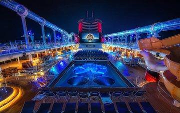 бассейн, яхта, экран, палуба