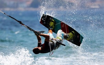 спорт, мужчина, спортсмен, спортивные состязания, кайт-серфинг