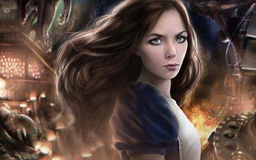 art, girl, alice in wonderland, alice