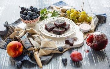 виноград, фрукты, ягоды, персик, сахар, мармелад, натюрморт, сливы, нектарин, julia khusainova