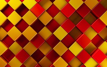 кубики, рендер, 3д