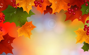 leaves, vector, autumn, graphics