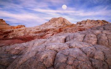 скалы, луна, каньон