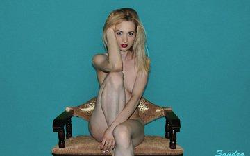 блондинка, красная помада, эротика, красивая фигура, ню, фотомодель, сандра, sandra sweet, сексуальный взгляд