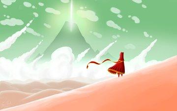 небо, пустыня, игра, путешествие