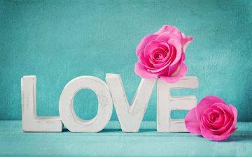 цветы, буквы, любовь, влюбленная