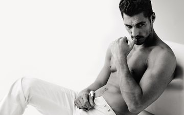 model, male, brunette, david gandy