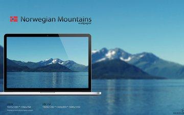 горы, монитор, норвегия, норвежский