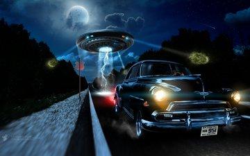 light, road, fantasy, speed, lights, prosecution