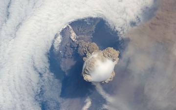 космос, фото, вид, красивый, вулкан