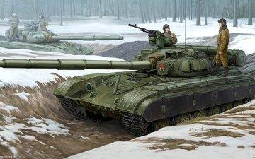 рисунок, танк