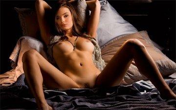 голая, красива, ню, горячая, режим, брюнет, без задних ног, kassie lyn, сексапильная