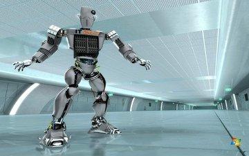 робот, заставка, ос, виндоус, windows server